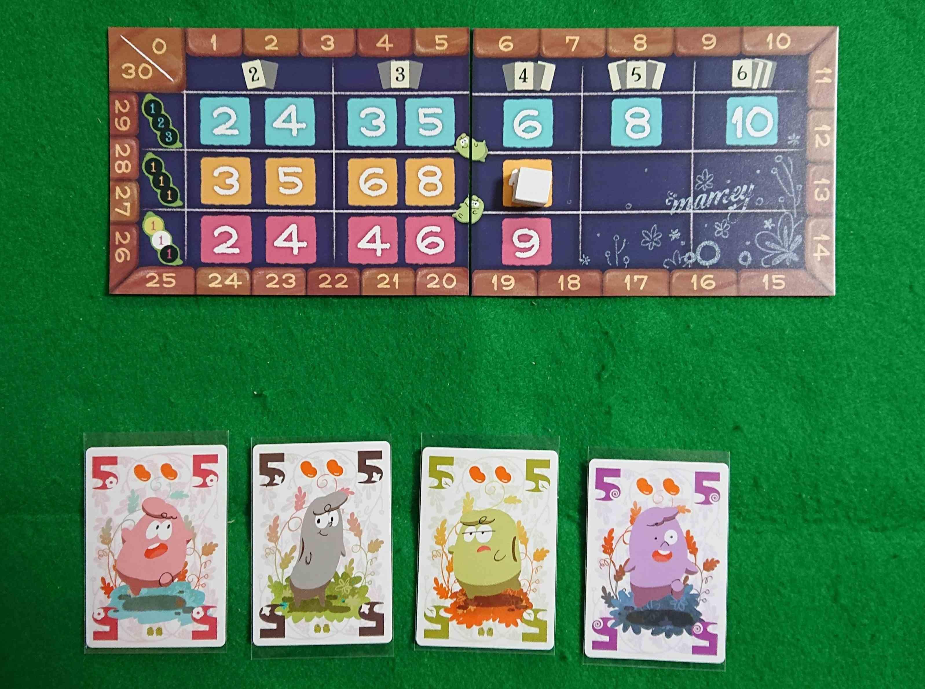 マメィ 豆を収穫して豆を売る! イラストの可愛いセットコレクション系 カードゲーム ボードゲーム