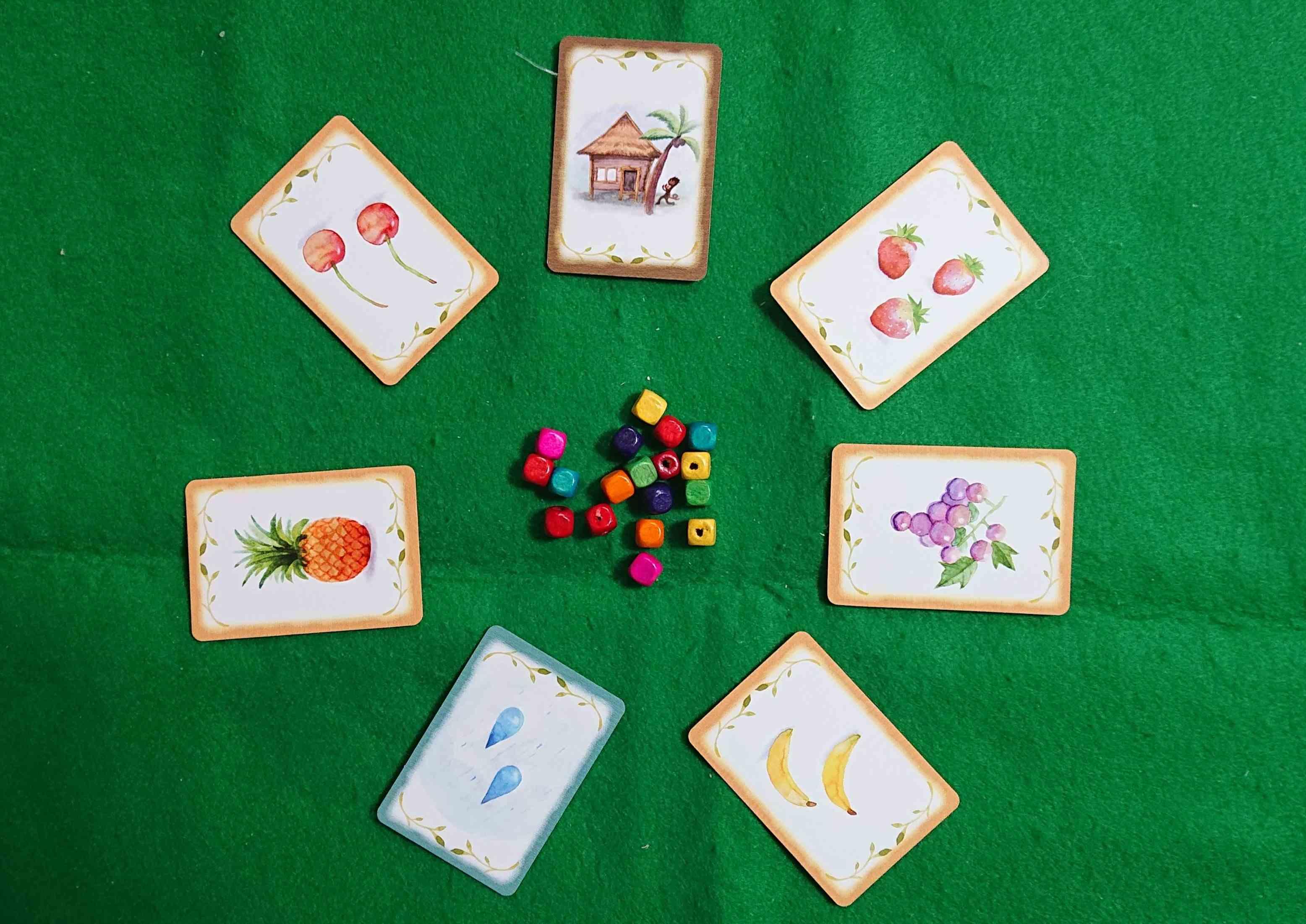 くだものあつめ(Furit Picking) 子供と一緒にマンカラシステムで遊びましょう! カードゲーム ボードゲーム