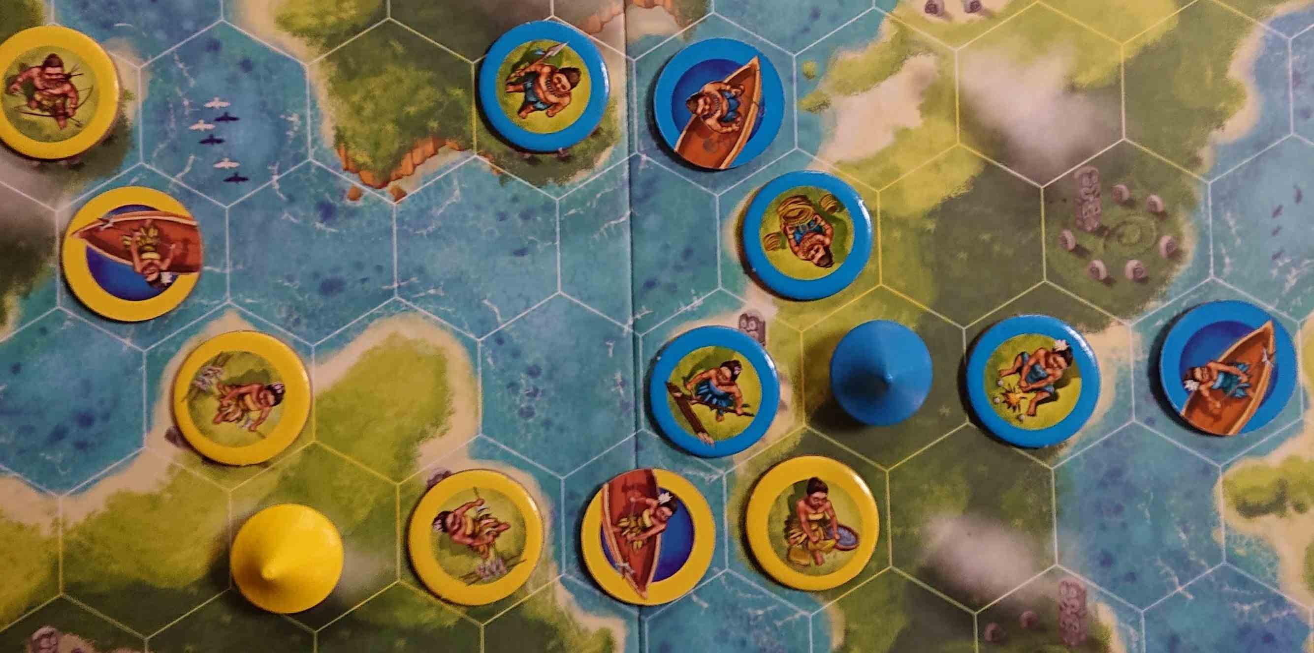 ブルーラグーン ルールがシンプルなのに面白い! 部族を島々に広げていく陣取りゲーム ボードゲーム