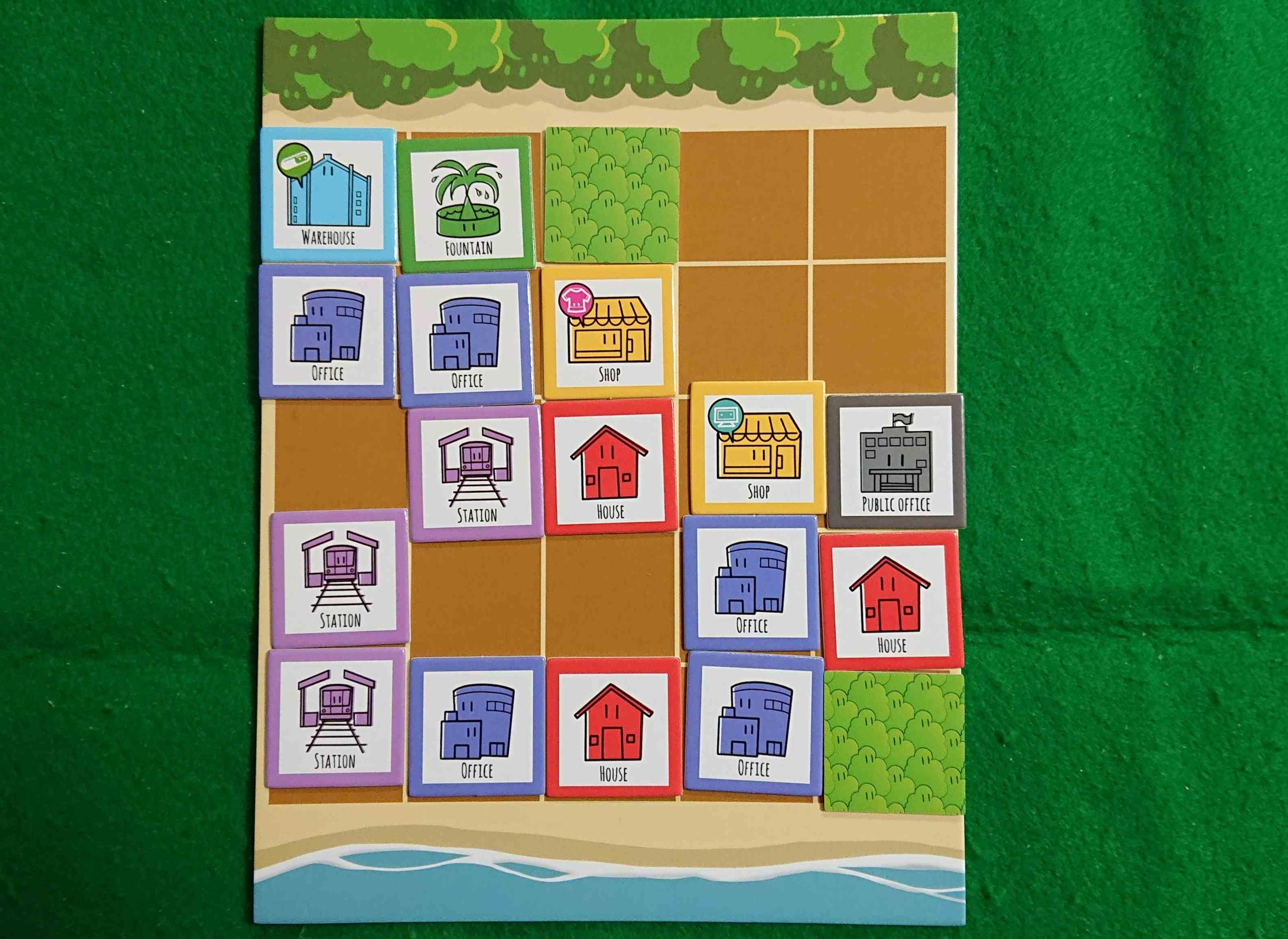 5×5シティ 市長として素晴らしい都市を完成させましょう! タイル配置 ボードゲーム