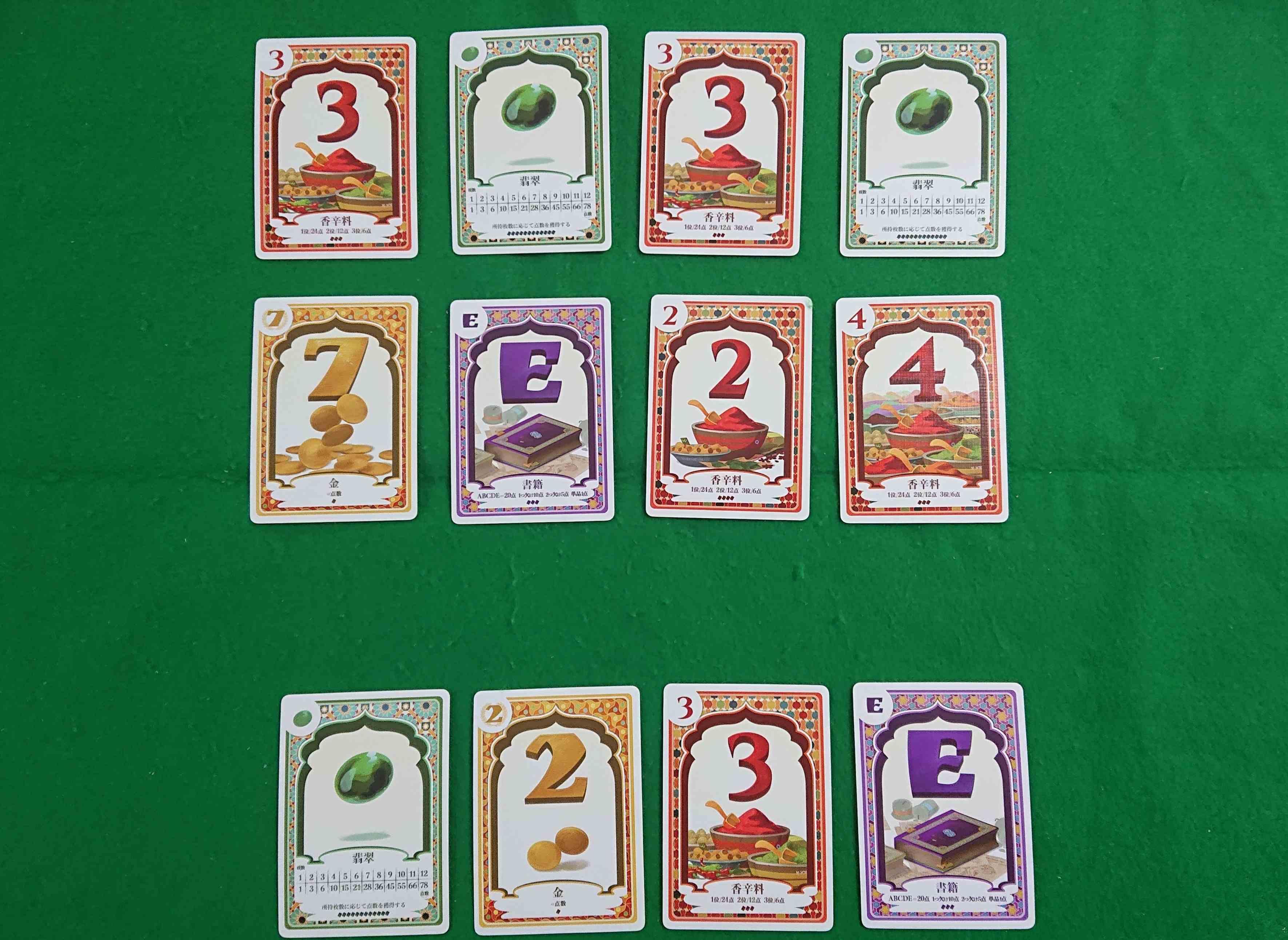翡翠の商人 欲しい枚数を宣言する競り系カードゲーム シンプルながらジレンマもある ボードゲーム