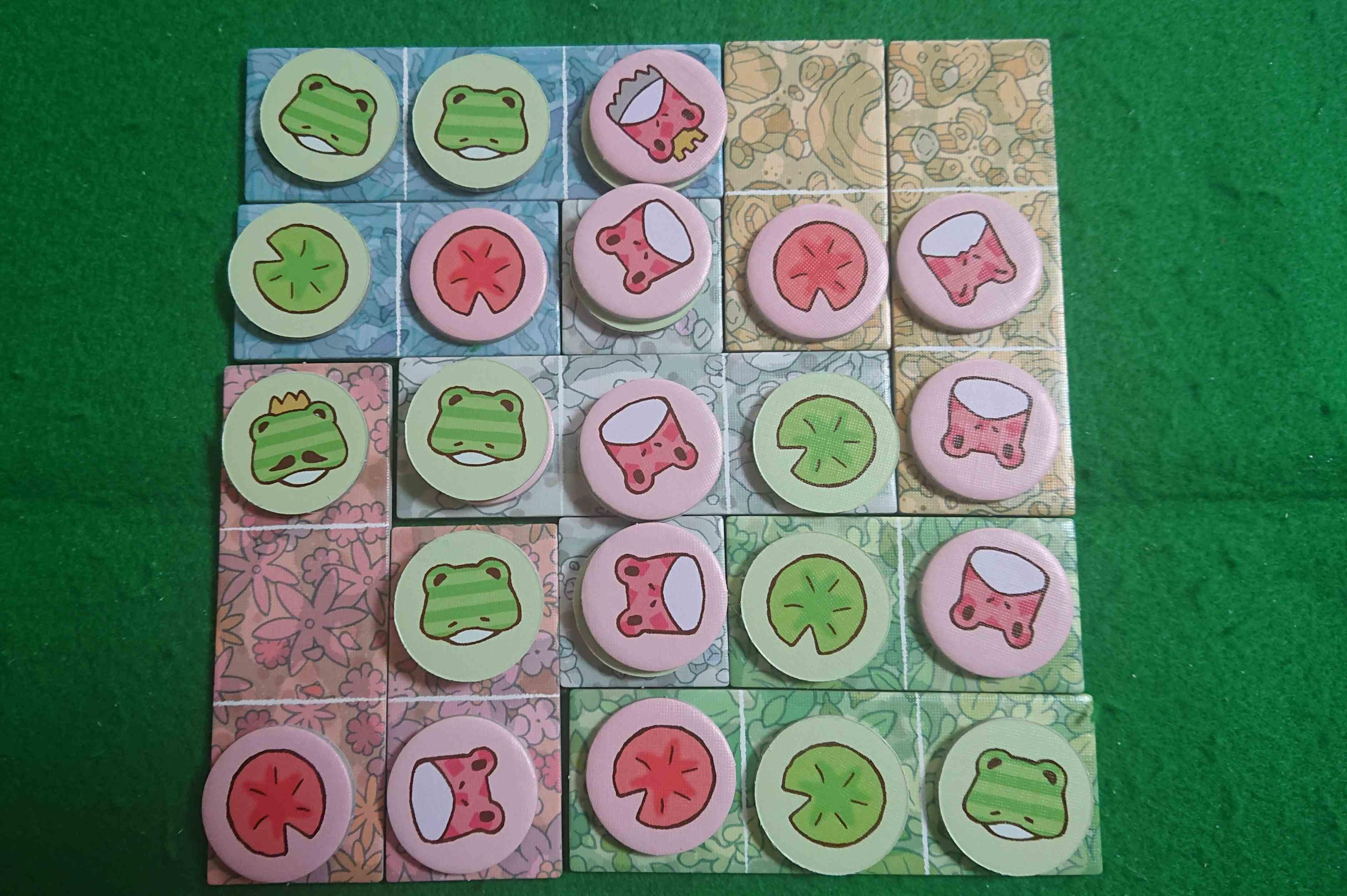 カエルの王国 見た目は可愛いカエルたち でも・・・かなりガチのアブストラクト ボードゲーム