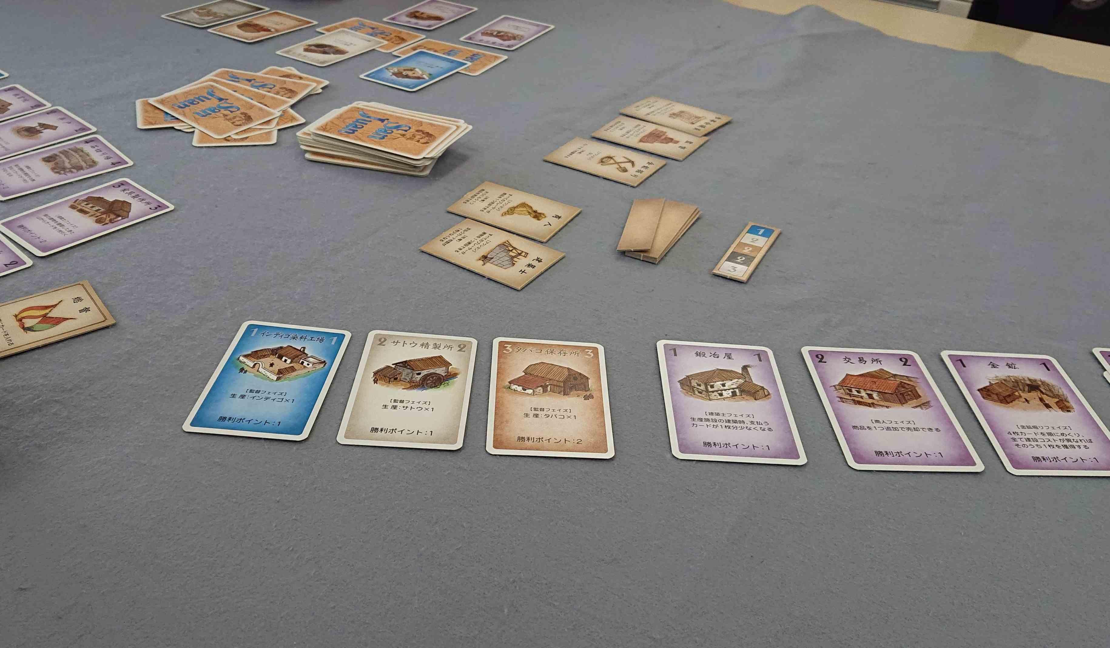 「サンファン」「Suggestion」「ロイヤルターフ」ボードゲーム会でプレイしたゲーム 感想