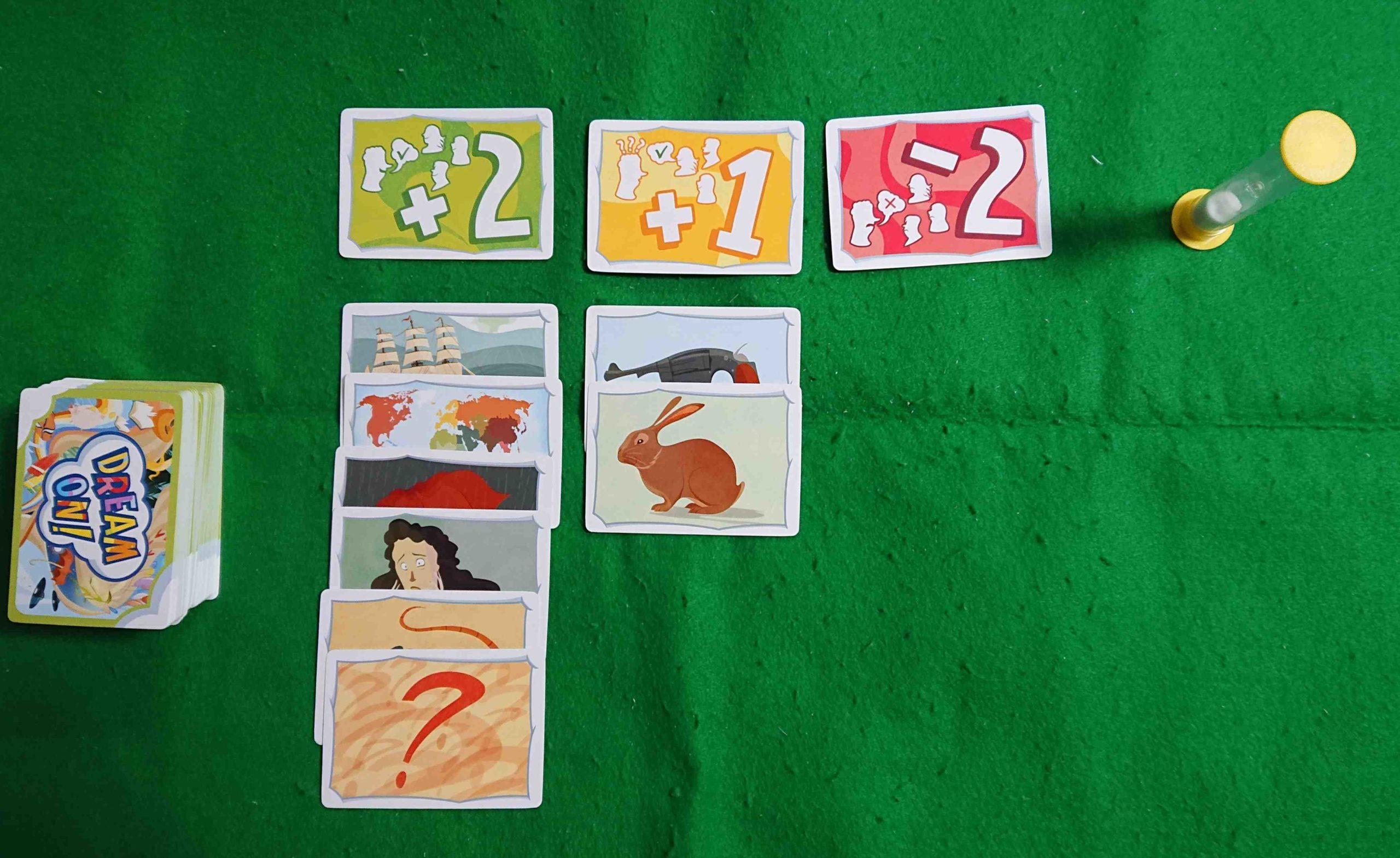 ドリームオン(DREAM ON!) ルール&レビュー みんなで物語を作ろう! 記憶力 ボードゲーム