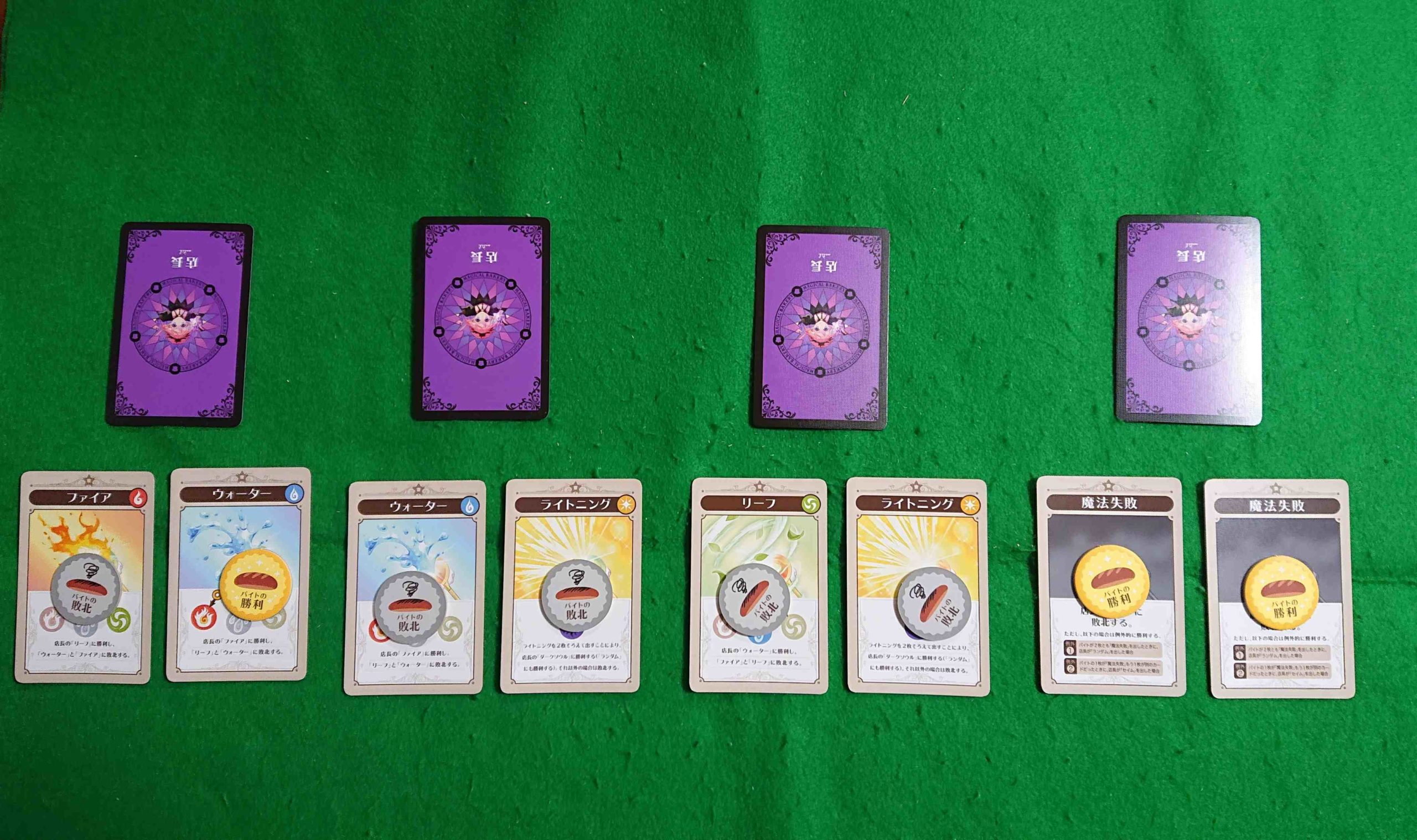 まじかるベーカリー叛逆の魔法少女 ルール&レビュー バイト代を賭けた戦いが始まる! 推理・心理戦 ボードゲーム