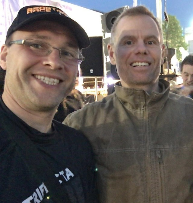 Selfie mit Joe de Sena (Founder and CEO of Spartan Race)