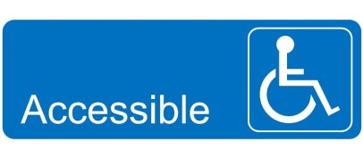 A accessibility sign