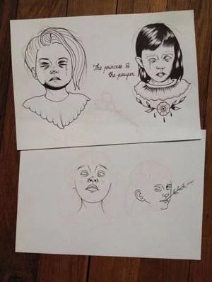 dessin-kim-enfants-malsains-noir-et-blanc