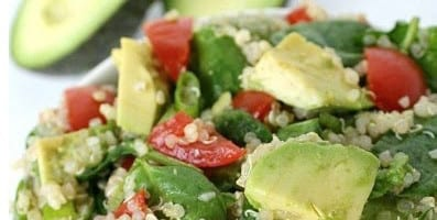 Power with Purpose:  Quinoa Avocado Spinach Power Salad