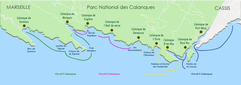 plan calanques de cassis https://www.calanquesdecassis.com/map.html