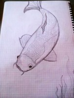 early koi sketch