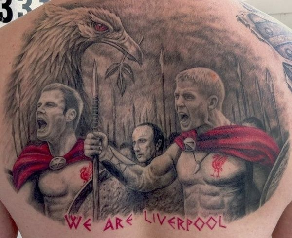 We are Sparta-inspired Liverpool tattoo