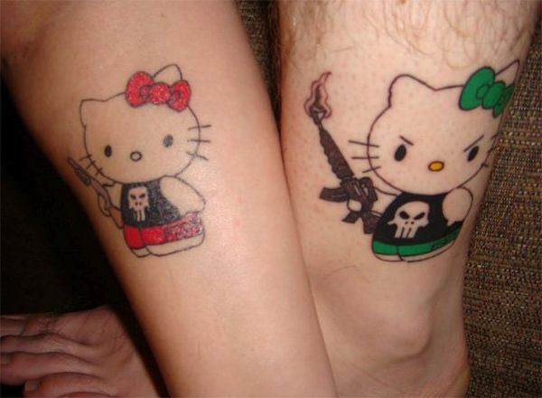 Couple Cartoon Tattoos