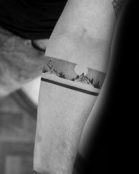 Birds, mountains, a forest, a river, and a deer. 150 Tattoo Ideas For Mountain Lovers Body Art Guru