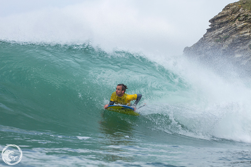Rob Barber travels through the tube on his way to third place. Photo: Lukasz Jan Kowalski