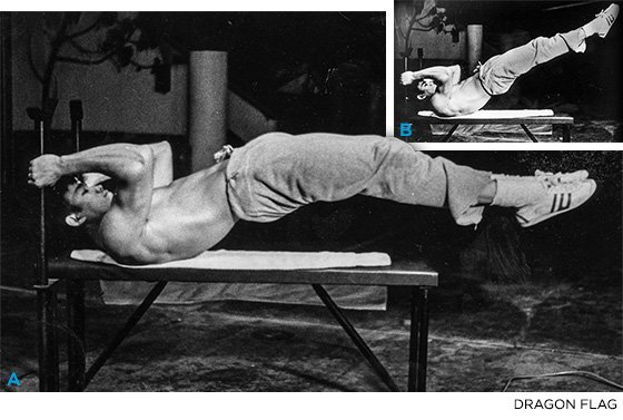 Enter The Six-Pack: Train Like Bruce Lee