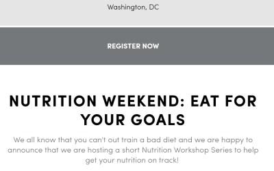 Eat For Your Goals: Nutrition Workshop
