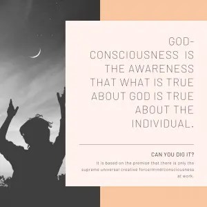 What is true about God is true about the individual.