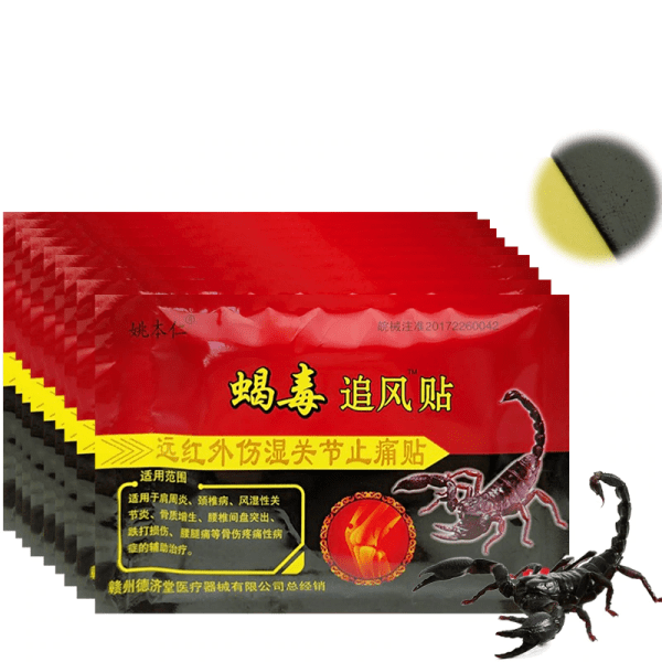 Set of 80 Pain Reliving Patches with Scorpion Venom Extract