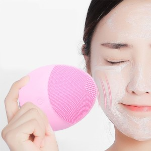 Colorful Waterproof Silicone Face Cleansing Brush