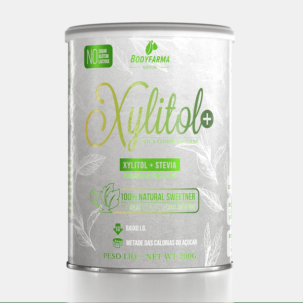 Sorvete Fit de morango com Xylitol+