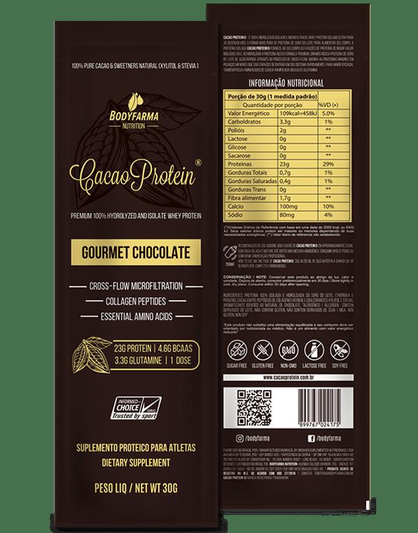 Whey Cacao Protein Gourmet Chocolate Sachê Avulso 30g