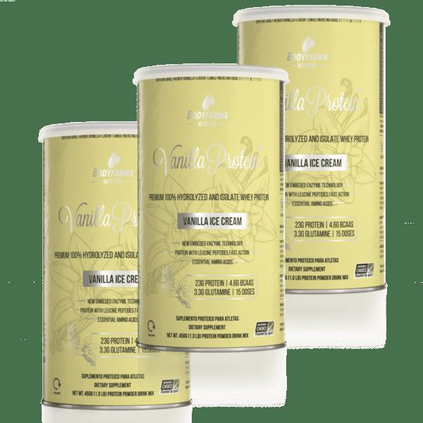 Combo 3 Vanilla Whey Protein Ice-Cream 450g