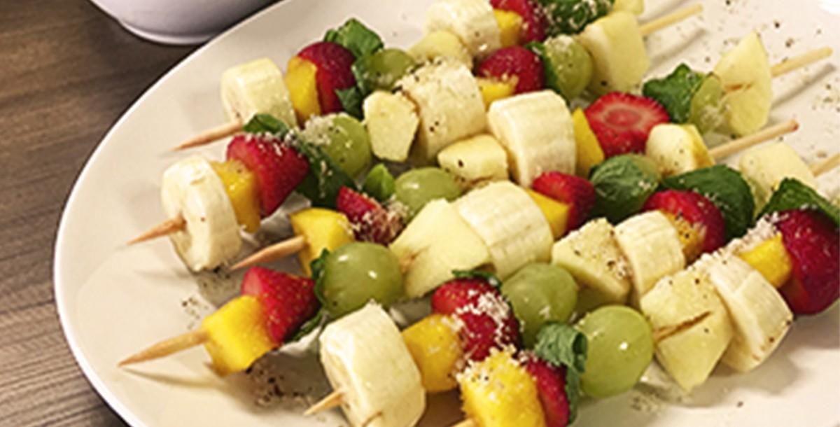 Espetinho de frutas saudável com Xylitol+
