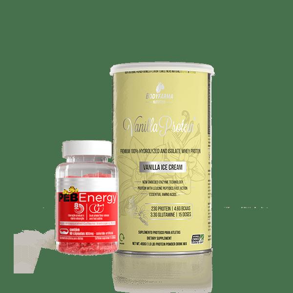 Kit Whey Vanilla Protein com PEB Energy Bodyfarma