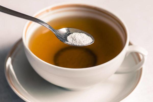 Xilitol no chá