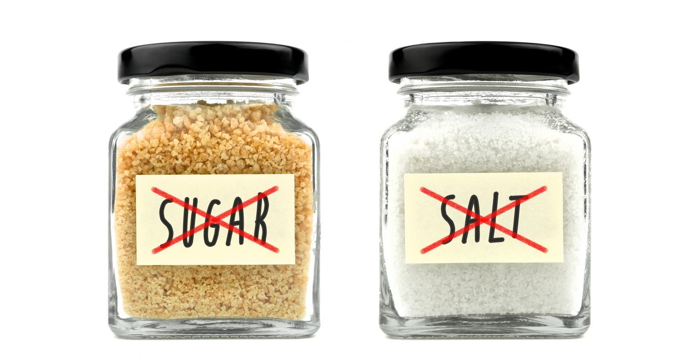 Não ao açúcar e ao sal