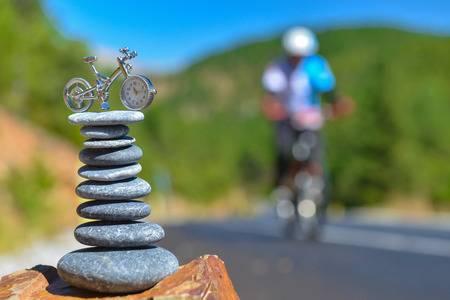 Meditação e yoga no pedal