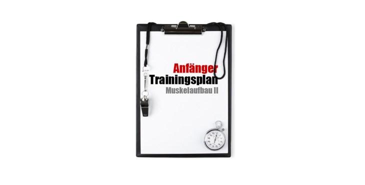 Anfänger Trainingsplan Muskelaufbau 2