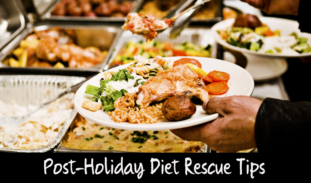 Post-Holiday Winter Weight Loss Diet Rescue Tips | How to Keep One Day of Over-Indulging from Completely Derailing your Diet