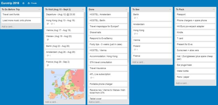 Body for Business Trello Eurotrip