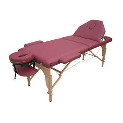Best Massage Two Fold Burgundy Portable Massage Table