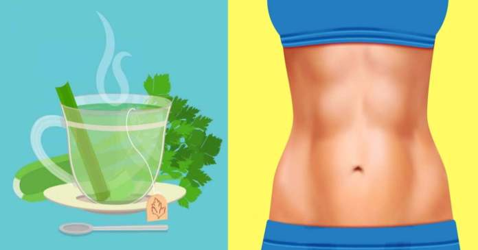 Celery tea for healthy weight loss