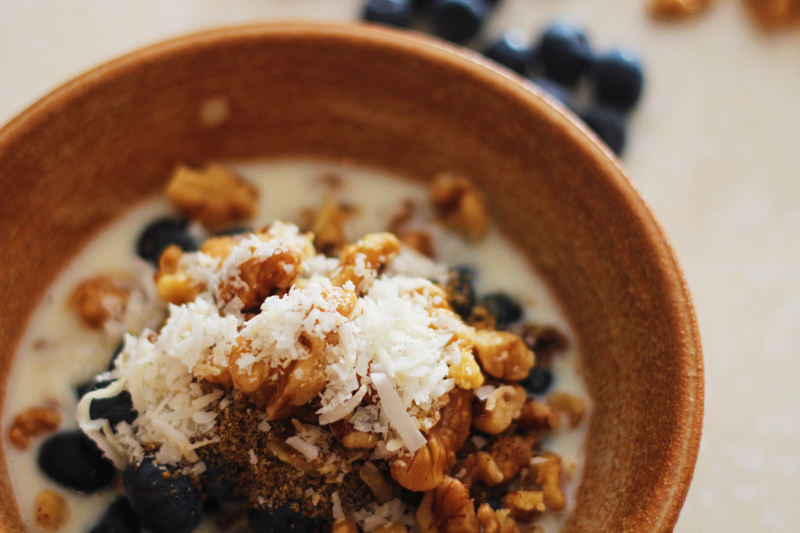 Gluten free cereal option from the book Grain Brain