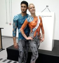Bodypainting VW-Promotion