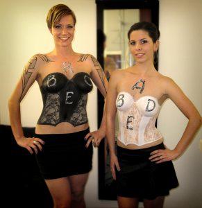 Bodypainting Dessous