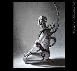 Bodypainting Galileo Robot Fotoshooting