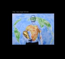 Bodypainting mit Arne Friedrich als Afrika