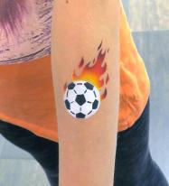 Fanschminken Fussball Airbrush Tattoo