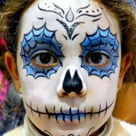 Halloween Kinderschminken Facepainting tag der toten