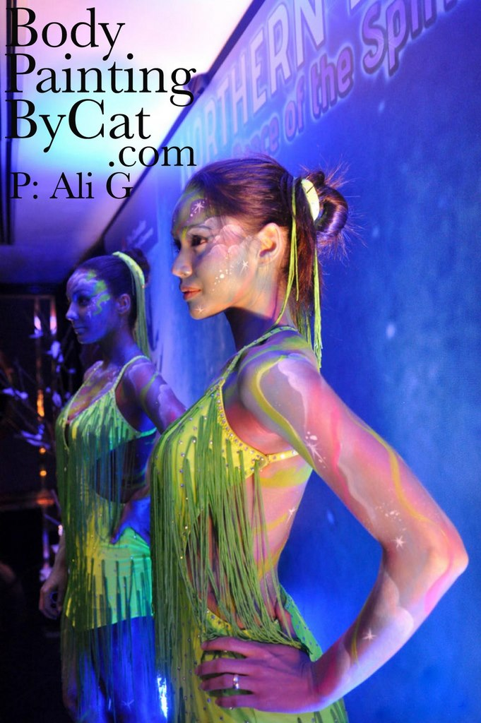 Live Statues Metallic Body Painting By Cat