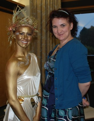 Cat Finlayson Wheatsheaf goddess for Jungle PR and me