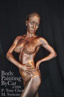 Metallic body oil all side clasp bpc
