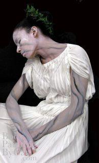 White marble statue asleep side bpc