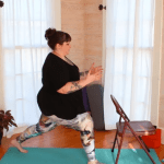 Sun salutations with a chair