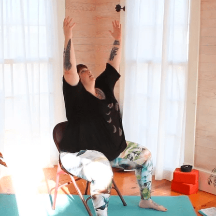 seated sun salutations  body positive yoga